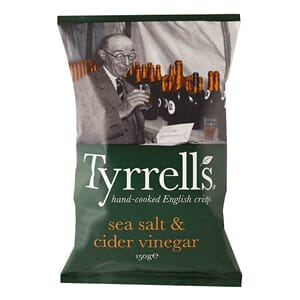 TYRRELLS POTETCHIPS CIDER VINEGAR 150G
