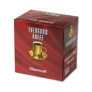 EVERGOOD FILTER KAFFE 250G 6PK
