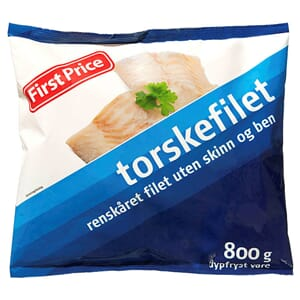 FIRST PRICE TORSKEFILET 800G