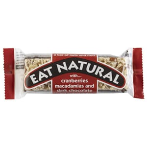 EAT NATURAL CRANBERRY DARK CHOCO BAR 45G