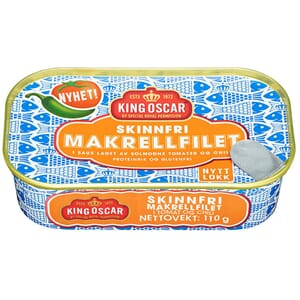 KING OSCAR MAKRELLFILET CHILI SKINNFRI 110G