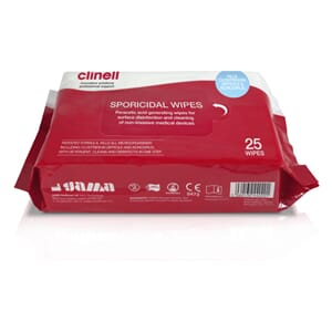 CLINELL SPORICIDAL WIPES 25STK