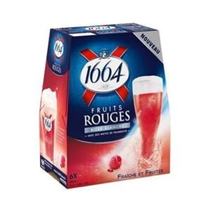 KRONENBOURG 1664 FRUITS ROUGE 0,33L FL 6STK