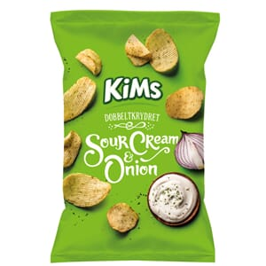KIMS POTETCHIPS SOUR CREAM ONION 250G