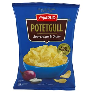 MAARUD POTETGULL SOUR CREAM ONION 200G