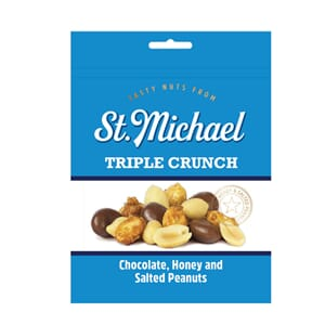 ST MICHAEL TRIPLE CRUNCH NØTTER 165G
