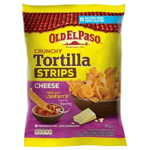 OLD EL PASO TORTILLA STRIPS CHEESE 185G