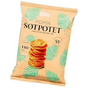 SØRLANDS POPPA CHIPS SØTPOTET 75G