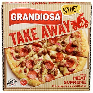 PIZZA GRANDIOSA TAKE AWAY MEAT SUPREME 560G