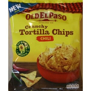 OLD EL PASO TORTILLA CHIPS CHILI 185G