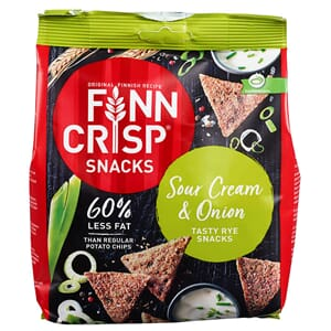 FINN CRISP SNACKS SOUR CREAM ONION 150G
