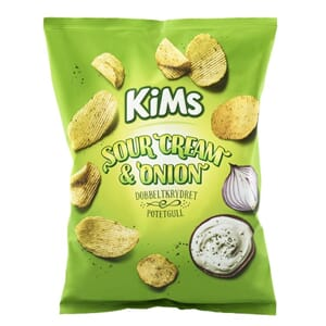 KIMS POTETCHIPS SOUR CREAM ONION 200G