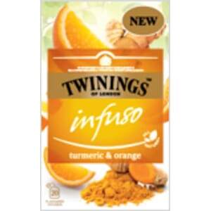 TWININGS TURMERIC ORANGE INFUSO TE 20POS