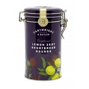 CARTWRIGHT & BUTLER LEMON ZEST SHORTBREAD METALLBOKS 200G