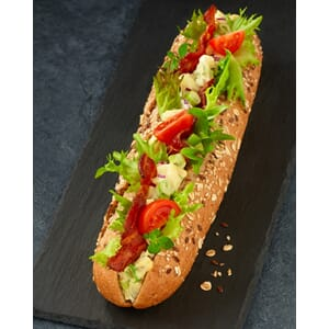 PLUSS CATERING BAGUETTE EGGESALAT BACON
