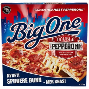 BIG ONE PIZZA DOUBLE PEPPERONI 570G
