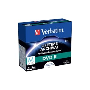 PK5 VERBATIM M-DISC DVD R 4,7GB JEWEL