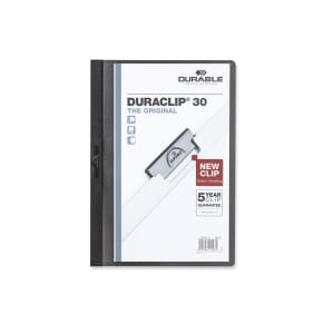 DURACLIP 2200 UNIVERSALMAPPE SORT 3MM