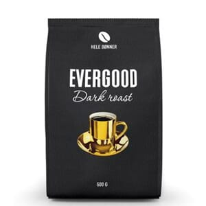 EVERGOOD DARK ROAST HEL 500G KARTONG 6STK